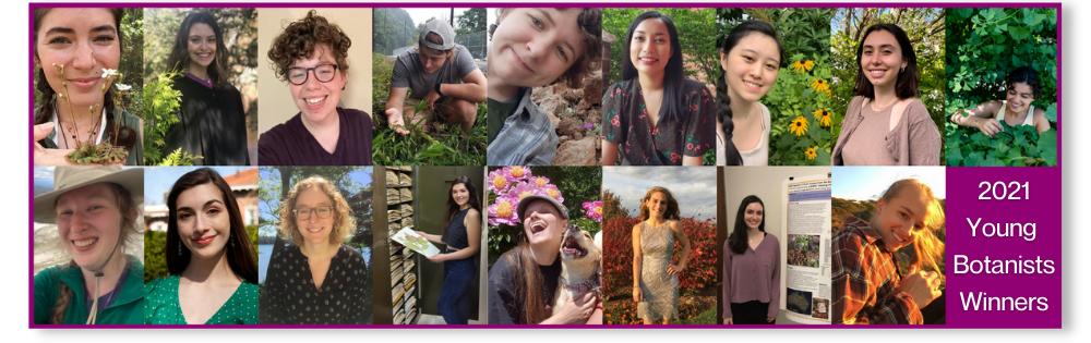 2021 Young Botanist Award Winners